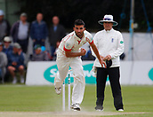 June 11th 2017, Trafalgar Road Ground, Southport, England; Specsavers County Championship Division One; Day Three; Lancashire versus Middlesex; Sadiq Mahmood of Lancashire made an early breakthrough in the Middlesex second innings having Nick Gubbins caught behind for 1 ;Lancashire were all out for 309 after lunch in reply to Middlesex's first innings score of 180 all out