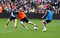 Wednesday, 23 April 2014<br /> Pictured: Jonjo Shelvey (C)<br /> Re: Swansea City FC are holding an open training session for their supporters at the Liberty Stadium, south Wales,