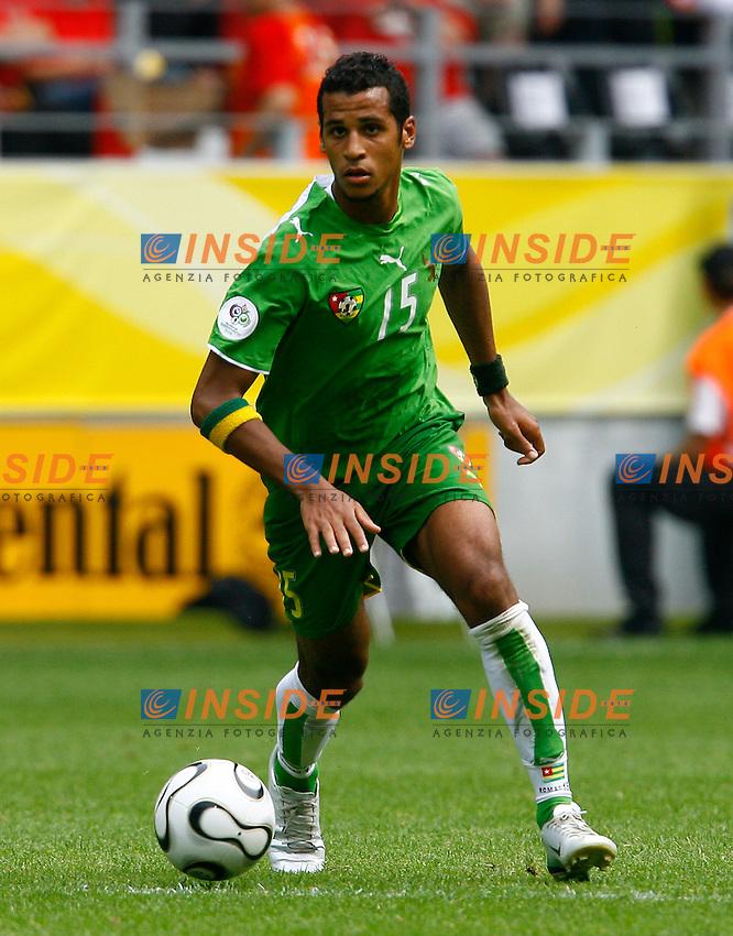 Dortmund 19/6/2006 World Cup 2006.Togo Svizzera - Togo Switzerland 0-2.Photo Andrea Staccioli Insidefoto.Alaixys Romao Togo