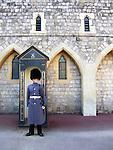Royal Guard at Windsor Castle (England).