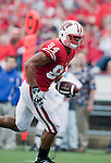 Wisconsin Badgers tight end Lance Kendricks (84) scores a touchdown during an NCAA college football game against the San Jose State Spartans on September 11, 2010 at Camp Randall Stadium in Madison, Wisconsin. The Badgers beat San Jose State 27-14. (Photo by David Stluka)
