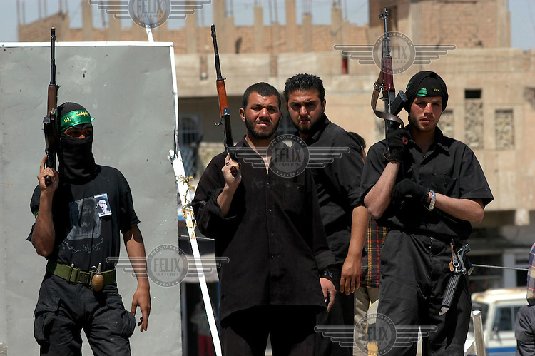 Members of radical Shia cleric Moqtada al-Sadr's personal militia, the Mehdi Army.