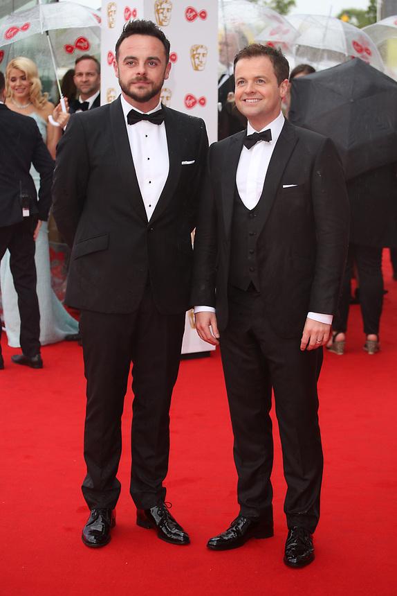 Ant and Dec<br />  arriving at the Bafta Tv awards 2017. Royal Festival Hall,London  <br /> ©Ash Knotek