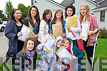 Junior Cert student from Presentation Secondary, Tralee after receiving their results on Wednesday front from left Gillian Mannix, Ciara Dunne and Jenifer Powell. Back from left Shauna Enright, Grace Stack, Orla Fox, Erin Flannigan, Nadia Khenchelani and ANgela Quilligan.