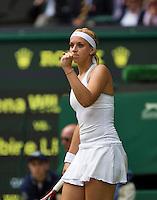 01-07-13, England, London,  AELTC, Wimbledon, Tennis, Wimbledon 2013, Day seven, Sabine Lisicki (GER)<br /> <br /> <br /> <br /> Photo: Henk Koster
