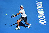 8th January 2018, ASB Tennis Centre, Auckland, New Zealand; ASB Classic, ATP Mens Tennis;  Karen Khachanov (RUS) during the ASB Classic ATP Men's Tournament Day 1