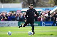 Lincoln City's assistant manager Nicky Cowley during the pre-match warm-up<br /> <br /> Photographer Chris Vaughan/CameraSport<br /> <br /> The EFL Sky Bet League Two - Lincoln City v Cheltenham Town - Saturday 13th April 2019 - Sincil Bank - Lincoln<br /> <br /> World Copyright © 2019 CameraSport. All rights reserved. 43 Linden Ave. Countesthorpe. Leicester. England. LE8 5PG - Tel: +44 (0) 116 277 4147 - admin@camerasport.com - www.camerasport.com