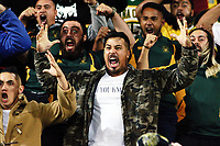 Fans perform a haka for centurion TJ Perenara after the Super Rugby match between the Hurricanes and Highlanders at Westpac Stadium in Wellington, New Zealand on Saturday, 24 March 2018. Photo: Mike Moran / lintottphoto.co.nz