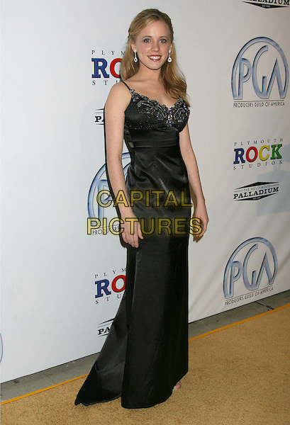 LAURA MARIE STEIGERS.20th Annual Producers Guild Awards held at The Hollywood Palladium, Hollywood, California, USA..January 24th, 2009.full length black dress long maxi silk satin  .CAP/ADM/MJ.©Michael Jade/AdMedia/Capital Pictures.