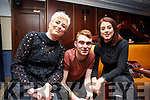 Francis, Ger and Maureen McCarthy of Brush and Blush working back stage at the Radio Kerry TalkAbout Christmas Afternoon Tea Party in the Ballygarry House Hotel on Sunday last are,