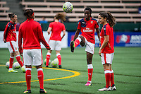 Seattle, WA - Thursday, May 26, 2016: Arsenal Ladies FC midfielder Asisat Oshoala (24). The Seattle Reign FC of the National Women's Soccer League (NWSL) and the Arsenal Ladies FC of the Women's Super League (FA WSL) played to a 1-1 tie during an international friendly at Memorial Stadium.