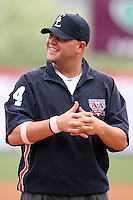May 3, 2009:  Third Base Umpire Matt Hansel before a game at the NYSEG Stadium in Binghamton, NY.  Photo by:  Mike Janes/Four Seam Images