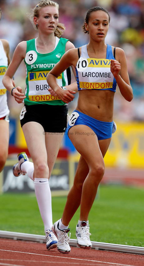 Photo: Richard Lane/Richard Lane Photography. .Aviva London Grand Prix, Crystal Palace. 26/07/2008. Great Britain's Olivia Larcombe in the Women's 3000m Under 20.