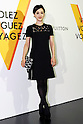 TV announcer Christel Takigawa poses for the cameras during the opening celebration for Louis Vuitton's ''Volez, Voguez, Voyagez'' exhibition on April 21, 2016, Tokyo, Japan. After a successful run in Paris, the luxury fashion brand now brings the instalment to Tokyo, which traces Louis Vuitton's history from 1854 to today. Some 1,000 objects, including rare trunks, photographs and handwritten client cards will be displayed. Japanese room will be set up specially for Japan, showcasing such rare items as makeup and tea ceremony trunks for kabuki actor Ebizo XI. The exhibition will be open to the public free of charge from April 23 to June 19. (Photo by Rodrigo Reyes Marin/AFLO)