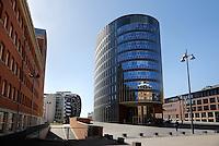 Moderne architectuur in het Paleiskwartier in Den Bosch