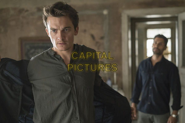 Homeland (2011-)<br /> (Season 5)<br /> Rupert Friend as Peter Quinn and Rene Ifrah as Bibi<br /> *Filmstill - Editorial Use Only*<br /> CAP/FB<br /> Image supplied by Capital Pictures