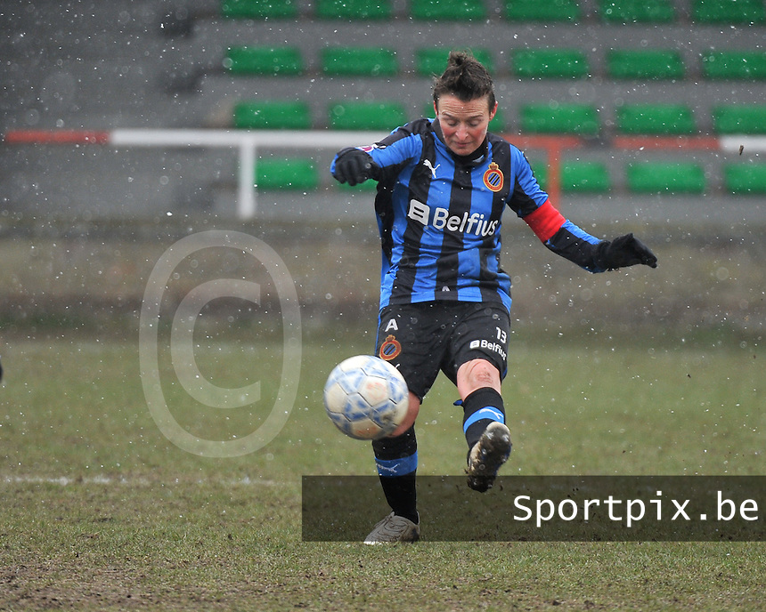 Club Brugge Dames - PEC Zwolle : Christine Saelens.foto DAVID CATRY / Vrouwenteam.be