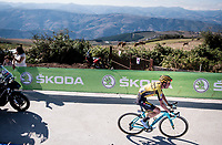 Sepp Kuss (USA/Jumbo-Visma) on his way to winning stage 15<br /> <br /> Stage 15: Tineo to Santuario del Acebo (154km)<br /> La Vuelta 2019<br /> <br /> ©kramon