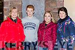 Bernie Sean and Sarah Sheahan with Breda O'Sullivan at the Glenbeigh/Glencar team homecoming in Glenbeigh on Monday night