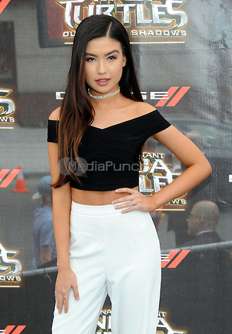 NEW YORK, NY - MAY 22: Erika Tham attends the 'Teenage Mutant Ninja Turtles: Out Of The Shadows' World Premiere at Madison Square Garden on May 22, 2016 in New York City.  Photo Credit: John Palmer/ Media Punch