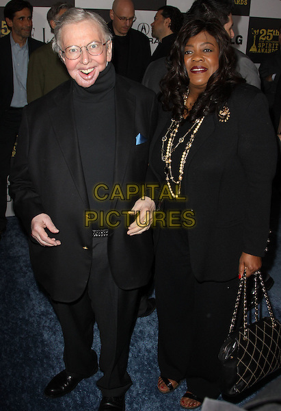 ROGER EBERT .25th Annual Film Independent Spirit Awards held At The Nokia LA Live, Los Angeles, California, USA,.March 5th, 2010 ..arrivals Indie Spirit full length black jacket polo neck suit blazer .CAP/ADM/KB.©Kevan Brooks/Admedia/Capital Pictures