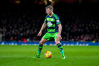 Stephen Kingsley of Swansea City  in actionduring the Barclays Premier League match between Arsenal and Swansea City at the Emirates Stadium, London, UK, Wednesday 02 March 2016