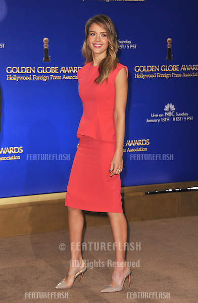 Jessica Alba announces the nominations for the 70th Annual Golden Globe Awards at the Beverly Hilton Hotel..December 13, 2012  Beverly Hills, CA.Picture: Paul Smith / Featureflash