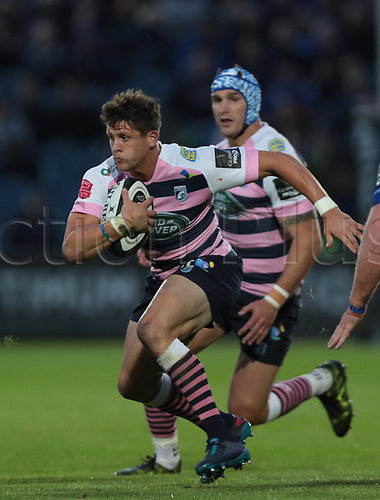 8th September 2017, RDS Arena, Dublin, Ireland; Guinness Pro14 Rugby, Leinster versus Cardiff Blues; Lloyd Williams (Cardiff Blues) charges forward