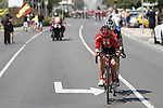 The breakaway featuring Michael Storer (AUS) Team Sunweb and Remi Cavagna (FRA) Deceuninck-Quick Step in action during Stage 7 of La Vuelta 2019 running 183.2km from Onda to Mas de la Costa, Spain. 30th August 2019.<br /> Picture: Luis Angel Gomez/Photogomezsport | Cyclefile<br /> <br /> All photos usage must carry mandatory copyright credit (© Cyclefile | Luis Angel Gomez/Photogomezsport)