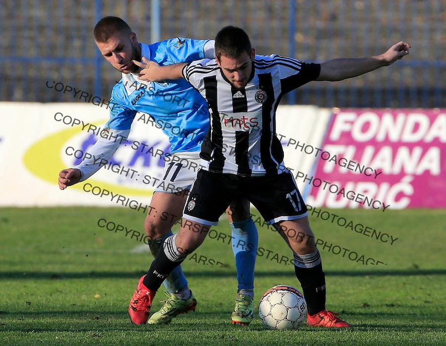 Fudbal Jelen Super League season 2015-2016<br /> Spartak v Partizan<br /> Andrija Zivkovic and Stefan Milosevic<br /> Subotica, 29.11.2015.<br /> foto: Srdjan Stevanovic/Starsportphoto&copy;