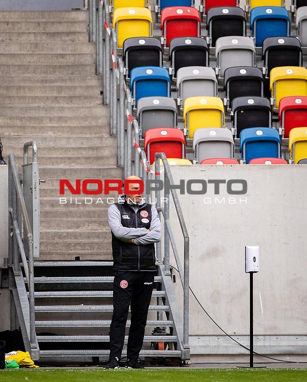 nph00351: Fussball, 1. Bundesliga, Saison 19/20, 26. Spieltag, Fortuna Düsseldorf - FC Paderborn 07, 16.05.2020:<br /> Trainer Uwe Rösler (F95)<br />  <br /> <br /> Nur für journalistische Zwecke! Only for editorial use!<br /> <br /> Gemäß den Vorgaben der DFL Deutsche Fußball Liga ist es untersagt, in dem Stadion und/oder vom Spiel angefertigte Fotoaufnahmen in Form von Sequenzbildern und/oder videoähnlichen Fotostrecken zu verwerten bzw. verwerten zu lassen. DFL regulations prohibit any use of photographs as image sequences and/or quasi-video. <br /> <br /> Foto: Moritz Müller/Pool / via Meuter/nordphoto