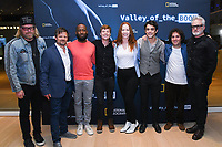 "NORTH HOLLYWOOD, CA - APRIL 8: Creator Matthew Carnahan ( from left) and cast members Steve Zahn, Lamorne Morris, John Karna, moderator Kate Hahn, Dakota Shapiro, Oliver Cooper and Bradley Whitford attend an FYC screening and Q&A for National Geographic's ""Valley of the Boom"" at the Television Academy on April 8, 2019 in North Hollywood, California. (Photo by Vince Bucci/National Geographic/PictureGroup)"