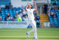 Picture by Allan McKenzie/SWpix.com - 20/04/2018 - Cricket - Specsavers County Championship - Yorkshire County Cricket Club v Nottinghamshire County Cricket Club - Emerald Headingley Stadium, Leeds, England - Nottinghamshire's Jake Ball reacts to a close dismissal.