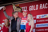 Mathieu Van Der Poel (NED/Correndon-Circus) wins the 54th Amstel Gold Race 2019 (1.UWT) after an incredible race finale where he returned from a beaten position (chasing with 40 seconds down on the race leaders with 3km to go!), but ending up beating everybody in the sprint to the finish (a finale that will go down in the history books!)<br /> <br /> Race organiser Leo Van Vliet is extatic with the race winner & the show he put on<br /> <br /> One day race from Maastricht to Berg en Terblijt (NED/266km)<br /> <br /> ©kramon