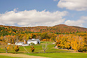 A classic autumn scene of a classic New England landscape on a beautiful fall day.