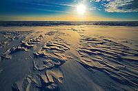 Winter landscape st sunrise<br /> near Willows<br /> Saskatchewan<br /> Canada