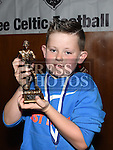 Ardee Celtic Under 9 Green player of the year Cian Matthewsat the Ardee Celtic annual awards night in Ardee parish centre. Photo:Colin Bell/pressphotos.ie
