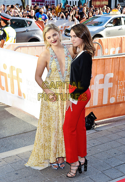 16 September 2016 - Toronto, Ontario Canada - Chloe Grace Moretz and Bailee Madison. &quot;Brain On Fire&quot; Premiere during the 2016 Toronto International Film Festival held at Princess of Wales Theatre. <br /> CAP/ADM/BPC<br /> &copy;BPC/ADM/Capital Pictures