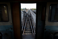 SAN ANTONIO DE LOS BANOS, CUBA - FEBRUARY 15: Railway of a Ferrocarriles de Cuba on February 15, 2018 in Cuba. Ferrocarriles de Cuba, is one of the oldest railroad around world, having opened its first route in 1837 with at least 17-mile long. Now the railway probably could cover more than 2,600 miles along the Island. (Photo by Eliana Aponte/VIEWpress)