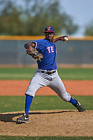 Texas Rangers pitcher Clyde Kendrick (33) during an instructional league game against the Seattle Mariners on October 5, 2015 at the Surprise Stadium Training Complex in Surprise, Arizona.  (Mike Janes/Four Seam Images)