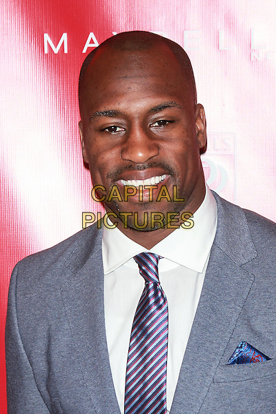 New York, NY- January 31: Vernon Davis at Shape &amp; Men's Fitness Kickoff Party at Cipriani 42nd Street on January 31, 2014 in New York City.  <br /> CAP/MPI/COR<br /> &copy;Corredor99/ MediaPunch/Capital Pictures