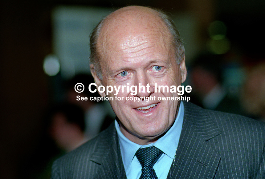 Sir Michael McNair-Wilson, MP, Newbury, UK, Conservative Party, 19901021MNW..Copyright Image from Victor Patterson, 54 Dorchester Park, Belfast, UK, BT9 6RJ..Tel: +44 28 9066 1296.Mob: +44 7802 353836.Voicemail +44 20 8816 7153.Skype: victorpattersonbelfast.Email: victorpatterson@me.com.Email: victorpatterson@ireland.com (back-up)..IMPORTANT: If you wish to use this image or any other of my images please go to www.victorpatterson.com and click on the Terms & Conditions. Then contact me by email or phone with the reference number(s) of the image(s) concerned.