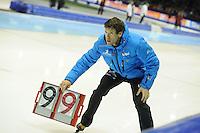 SCHAATSEN: HEERENVEEN: 25-10-2013, IJsstadion Thialf, NK afstanden, Gianni Romme (trainer/coach), ©foto Martin de Jong