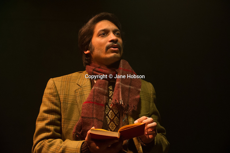 London, UK. 14.12.2012. Conspirators' Kitchen presents GOLGOTHA by Nirjay Mahindru. Directed by Iqbal Khan, the play runs from 14th November to 8th December 2012. Picture shows: Raj Ghatak (Kalil). Photo credit: Jane Hobson.