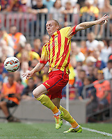 FC Barcellona's Jeremy Mathieu during La Liga match.September 13,2014. (ALTERPHOTOS/Acero) <br /> Football Calcio 2014/2015<br /> La Liga Spagna<br /> Foto Alterphotos / Insidefoto