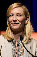 SANTA BARBARA, CA - FEBRUARY 01: Cate Blanchett inside during the 29th Santa Barbara International Film Festival - Outstanding Performer of the Year Award Honoring Cate Blanchett held at Arlington Theatre on February 1, 2014 in Santa Barbara, California. (Photo by Xavier Collin/Celebrity Monitor)