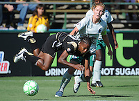 Lori Chalupny up ends FC Gold Pride's Formiga, St. Louis Athletica over FC Gold Pride 1-0 at Buck Shaw Stadium, in Santa Clara, California, Sunday, July 5, 2009.