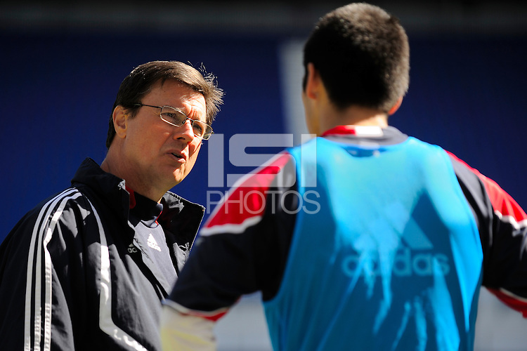 New York Red Bulls assistant coach Goral Aral during a practice at Red Bull Arena in Harrison, NJ, on March 16, 2010.