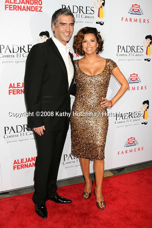 "Alejandro Fernandez & Eva Longoria arriving at the Padres Contra El Cancer's 2008 ""El Sueno De Esperanza"" Gala at the Grand Ballroom in Los Angeles,  CA on.October 7, 2008.©2008 Kathy Hutchins / Hutchins Photo....                ."