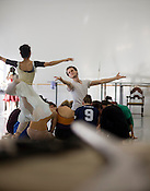 Attila Vongar, as Don Quixote, with Margret Severin-Hanson as Dulcinea during a rehersal at Carolina Ballet in Raleigh.